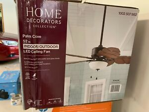 Home Decorators Collection 51422 Palm Cove 52 inch Natural Iron Ceiling Fan