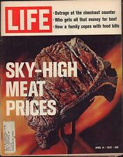 LIFE April 14,1972 Sky High Meat Prices / Portrait of a Rower / Ladies Styles