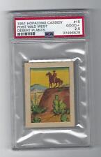 Hopalong Cassidy 1951 Post Wild West- Desert Plants, # 15, PSA Good + - 2.5