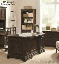 Stratford 66 Inch Curved Executive Desk Hardwood Home Office Furniture Online