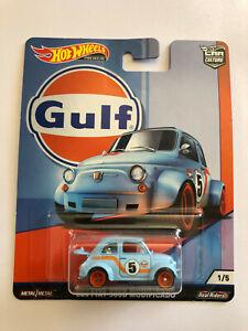 Hot Wheels 1960 '60s Fiat 500D Modificado GULF CAR CULTURE 1/5