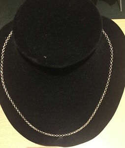 Genuine Solid 925 Sterling Silver Necklace Round Belcher Pendant Chain 50CM 3MM