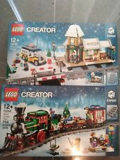Lego 10254 & 10259 Winter Village Station & Winter Holiday Train BNIB