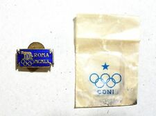 1960 Olympic Games Rome Official Pin_Badge SMALL VERSION & Original paper case