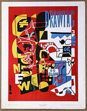 Stuart Davis  Combination Concrete Vintage Lithograph Print