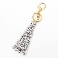 PU Leather Tassel Keychain For Women Keyring Bag Charm For Keys Porte Jewelry