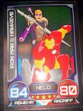 Hero Attax 2014 Marvel Mirror - Foil - Karte Nr. 20 Iron Man Hawkeye Sammelkarte