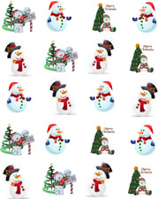Cute Christmas Snowmen Waterslide Nail Decals/Nail art