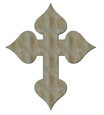 Unfinished Wood Cross Crosses Spade End 8'' x 11'' - Quantity 10