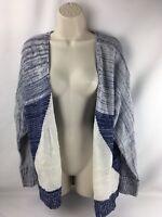 Xhilaration Women's Cardigan, size XS,  blue & White acrylic