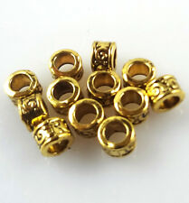 50pcs Brass Spacer Beads Metal Charm Jewelry Finding 4.5mm