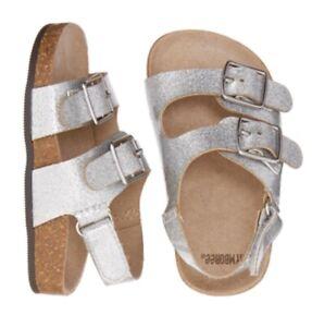 NWT GYMBOREE $25 Baby Girl Metallic Sparkle Buckle Sandals 0-3 Months