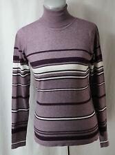 Rafaella, Small, Multi Purple Stripe Turtleneck Sweater, New without Tags