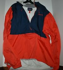 Mens Patagonia Torrentshell Pullover Jacket Size XXL Red/Navy Blue