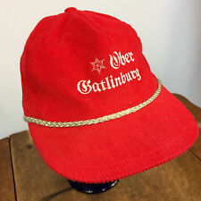 Vtg Corduroy 70s 80s Ski Ober Gatlinburg Mountain Rope Snapback Dad Flat Cap Hat