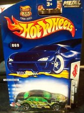 HOT WHEELS 2003 #69 -1 LEXUS SC400 BLK RZ LT GREN WINDOW MAL 03MTL