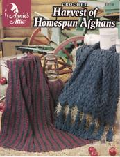 Harvest of Homespun Afghans Crochet Christmas Ruffle African Decor Warmth Throw