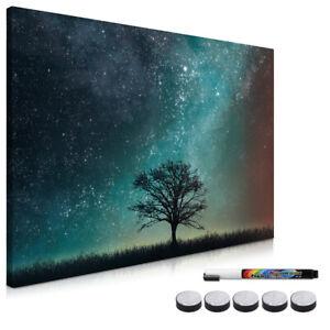 Magnetpinnwand Memoboard 60x40cm Magnettafel Notiztafel Starry Sky and Tree