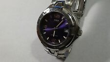 Mens SS Guess Waterpro diver 100M/330FT QTZ w/ date great cond