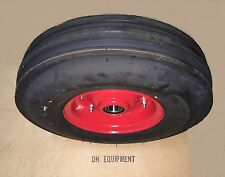 3.50x6, 3 Ribbed Tedder Tire & Wheel fits Galfre, Walton, First Choice and More