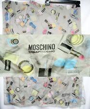 ITALY Moschino Cheap Chic SETA Silk 68x172 Women Long Scarf Cosmetics Wrap Shawl