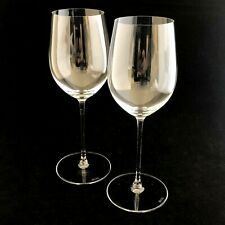 "2 Riedel Wine Glasses 9"" Clear Crystal Glass"