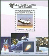 Guinea 2014 Space Shuttle & Satellites Souvenir Sheet Mint Nh