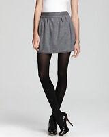 """NWT $265 Diane Von Furstenberg DVF """"Addie"""" Wool Heathered Grey Pleated Skirt 12"""