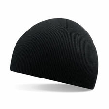 Unisex Black Soft Feel Beanie Hat - Winter, Autumn, Warm, Snow, Ice, Rain, Wind