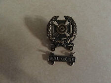 MILITARY INSIGNIA CREST BADGE US ARMY RIFLE MARKSMANSHIP EXPERT SMALL BORE RIFLE
