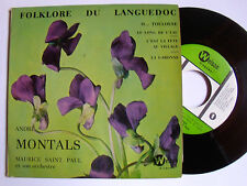 """ANDRE MONTALS & Maurice SAINT PAUL : O  Toulouse  - 7"""" EP 1965 WELSON RO 7"""