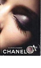 PUBLICITE  ADVERTISING  2012  CHANEL cosmétiques ILLUSION D'OMBRE cosmétiques