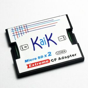 Dual Slot MicroSDXC Card to CompactFlash CF Card I Adapter, Support up to 128GB!