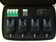 4 x NEW DIGITAL WIRELESS BITE ALARMS FOR CARP FISHING- RUNNING LED, NIGHT LIGHT