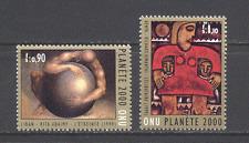 UN (G) 2000 Millenium/Art 2v set  (n19241)