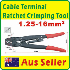 1.25-16mm² Cable Terminal Ratchet Crimp Crimping Plier Tool Anderson Plug