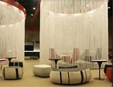 White String Curtain 195cm X 280cm per porte finestre DIVISORI VOLA sfondo schermo