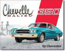 Chevy Chevelle 350 Malibu Chevrolet USA Metall Deko Schild
