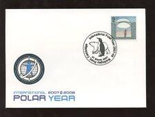 GB 2007 invenzione PONTE FDC Anno polare Penguin speciale