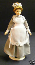 1:12 Scale Maid In A Grey Dress Tumdee Dolls House Miniature Ladies People