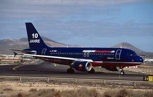 AIRCRAFT SLIDE / DIA A320 D-AHIK HAMBURG INTERNATIONAL 10 Jahre