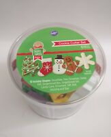 New Wilton 12 Piece Metal Holiday Cookie Baking Christmas Cutter Set  BUCKET