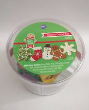 Wilton 12 Pcs Metal Holiday Cookie Baking Christmas Cutter Set Tree Gift Mold