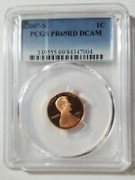 2007 S Proof Lincoln Memorial Cent PCGS PR 69 RD DCAM San Francisco Mint