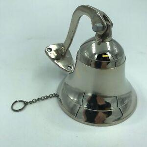 Nautical Marine Brass Ship Bell Door bell Wall Mount / Hanging Silver Finish