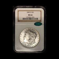 1883-O Morgan Silver Dollar - CAC and NGC MS66 - Free Shipping USA