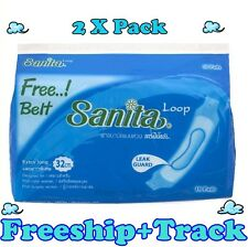 """2X10 Pads Loop Maternity Sanitary Napkin Towels Extra Long 12""""or 32cm Hospital.L"""