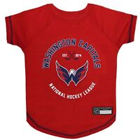 Washington Capitals Officially Licensed NHL Dog Pet Tee Shirt, Red Sizes XS-L