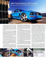 2007 Ford Mustang 302 Original Car Review Print Article J711