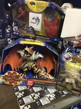 lot of 3 Hasbro Duel Masters Bolshack Dragon , urth and Master Flame